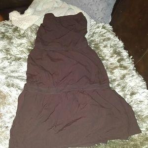 Brown flowy skirt